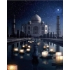 Happy New Year 2018 Fireworks Show Taj Mahal