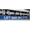 LIFT THE BAN IN INDIA ON NON-EXISTING LTTE